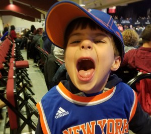 Jake loves to see Westchester Knicks Basketball