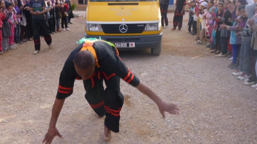 استعراض رياضي بمدرسة ايت بوالال ببومالن دادس