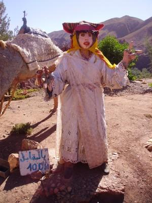 تمثال لعروس بمنطقة تملالت السياحية على واحة دادس