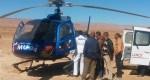 نقل شاب مصاب بردود وكسر من قلعة مكونة إلى المستشفى الجامعي بمراكش بواسطة مروحية