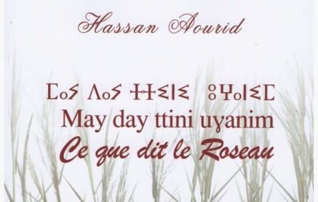 Vient de paraître: Ce que dit le roseau par Hassan Aourid