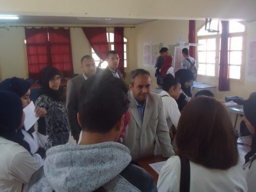 قافلة التوجيه المدرسي والمهني تحط الرحال بالثانوية التأهيلية سيدي محمد بن عبد الله بتنغير