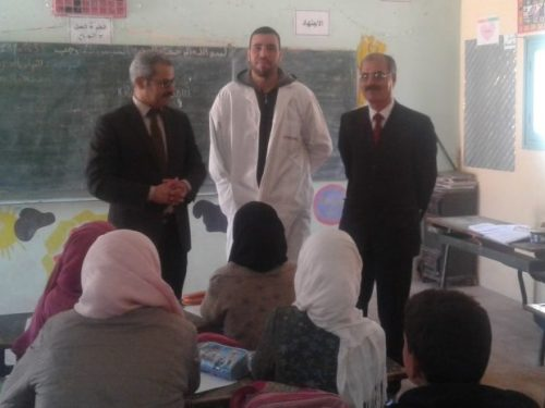 زيارة المدير الإقليمي بمديرية تنغير لمدرسة تدريت