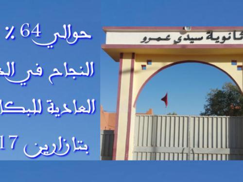 حوالي %64 نسبة النجاح في الدورة العادية للباكالوريا بثانوية سيدي عمرو بتازارين