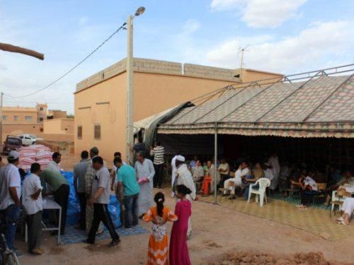 جمعية أيت حدوش للتنمية و التضامن تقوم بتوزيع هبات لفائدة الساكنة