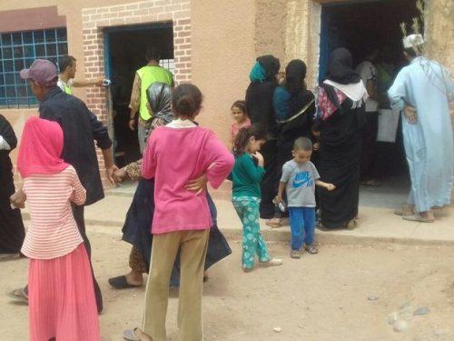 الجمعية الوطنية للخدمات الصحية  تحط الرحال بقافلة طبية بايت سيدي مولود