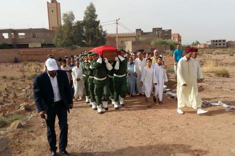 تارميكت: تشييع الرقيب الأول محمد آيت سعيد ضحية أعمال العنف بجمهورية إفريقيا الوسطى