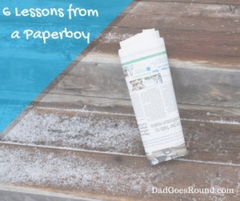 "Image of a folded newspaper with the text ""6 lessons from a paperboy"""