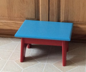 Red and Blue painted step stool