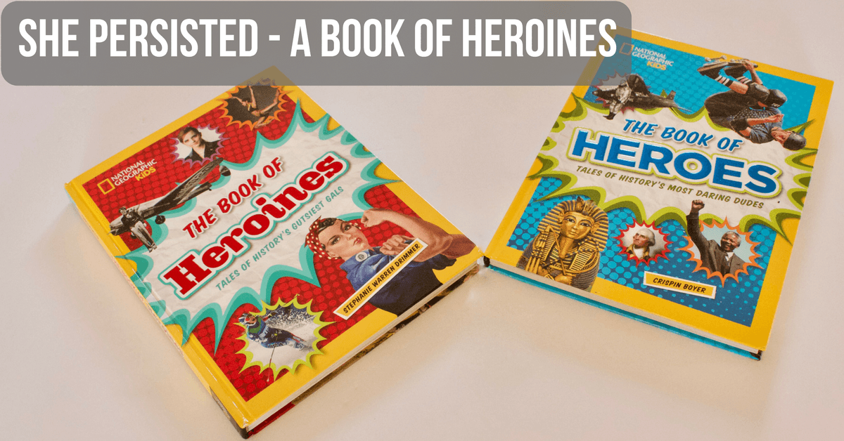Image of a book of heroines and a book of heroes