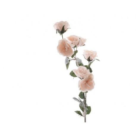 Ramo di rose rosa con neve