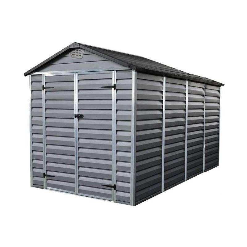 abri de jardin skylight shed 6x10 gris palram