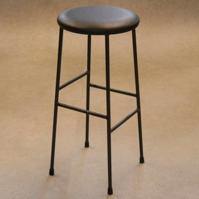 Taburete Desigual asiento tapizado sintético negro estructura pintado negro