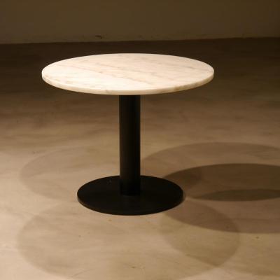 Mesa disco 45 con sobre de mármol 56cm