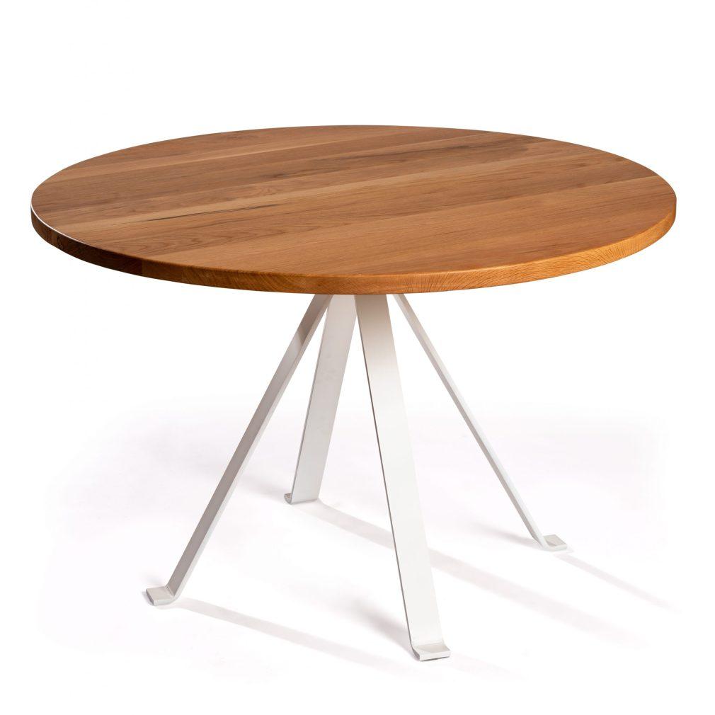 Mesa comedor Salions con sobre de roble natural de 120 cm