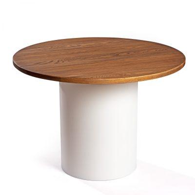 Mesa Ronda con sobre de madera de roble macizo