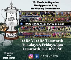 Play Football Tamworth Tuesdays and Fridays