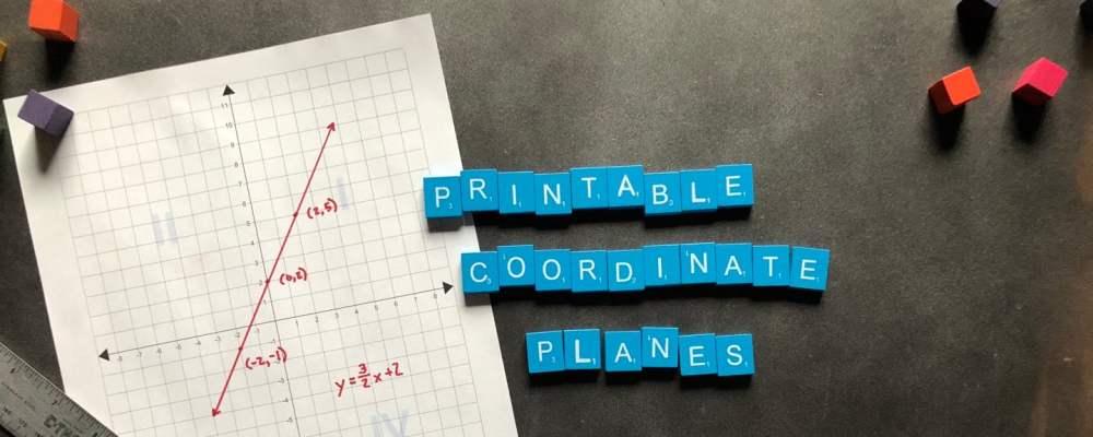 medium resolution of New Printable Coordinate Plane PDFs!