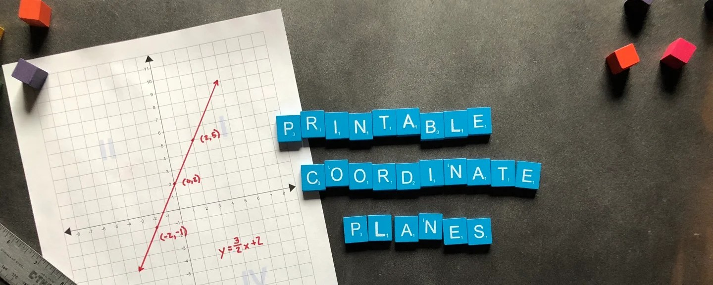 hight resolution of New Printable Coordinate Plane PDFs!
