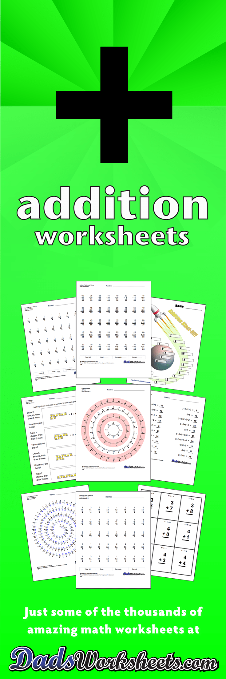 medium resolution of Addition Worksheets