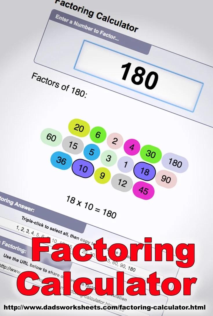 hight resolution of Factoring Calculator