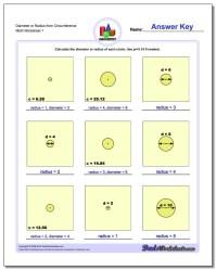 Circles - Diameter and Radius