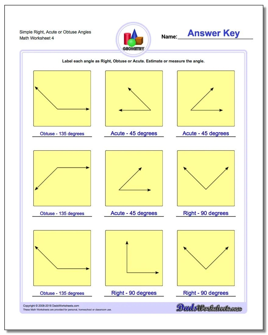 hight resolution of Angles Worksheets Grade 6