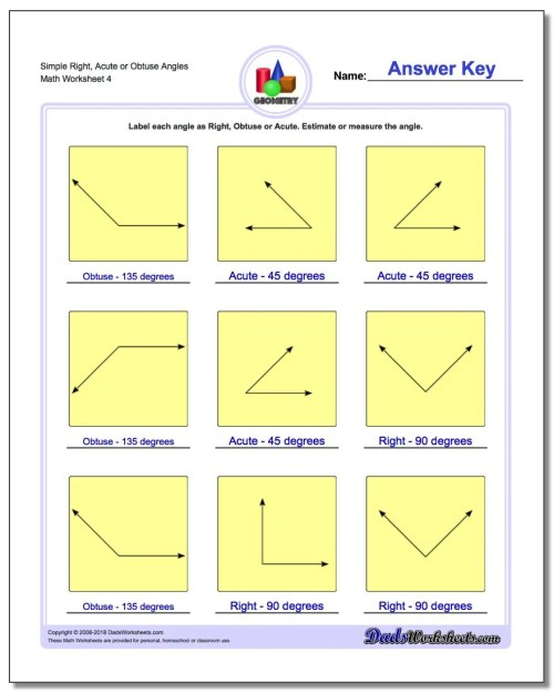 small resolution of Angles Worksheets Grade 6