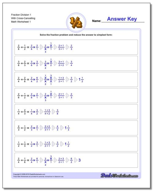 small resolution of Dividing Fractions Worksheet With Answer Key - Promotiontablecovers
