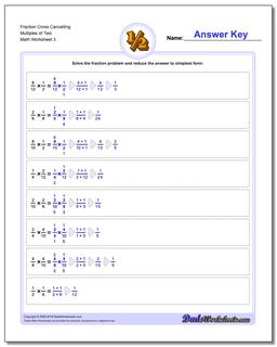 Fraction Multiplication Cross Cancelling Workouts