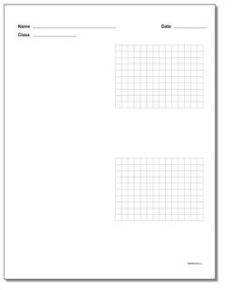 Printable Graph Paper with Name Block