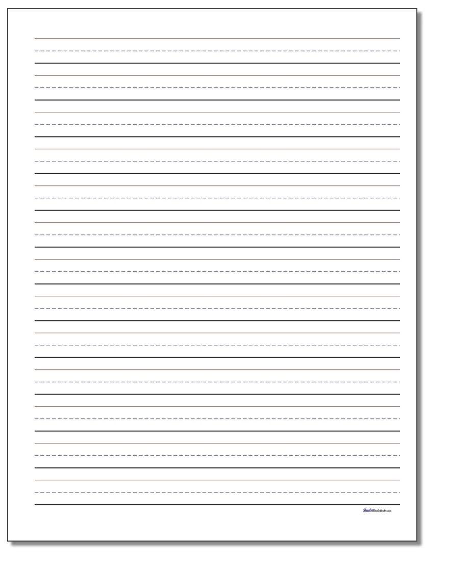 printable handwriting practice paper