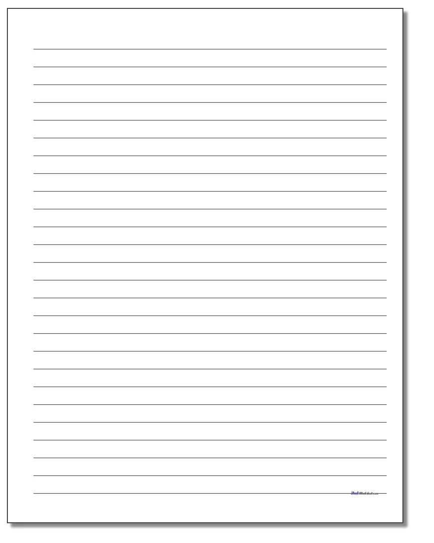 paper with lines template
