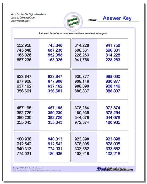 small resolution of Kindergarten Math Ascending Order Worksheets - Preschool Worksheet Gallery