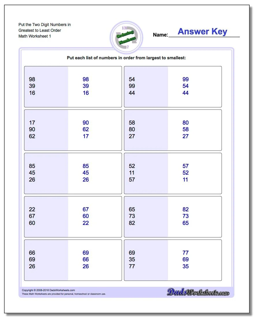 medium resolution of Kindergarten Math Ascending Order Worksheets - Preschool Worksheet Gallery