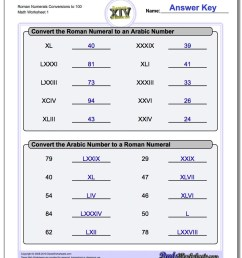Roman Numeral Worksheets... You know [ 1100 x 880 Pixel ]