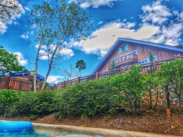 Ski lodge at Blizzard Beach.