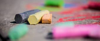 Dadtography - Sidewalk Chalk Macro Close-Up