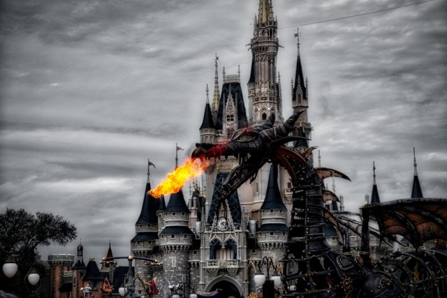 HDR Photography - Fire-Breathing Dragon at Magic Kingdom Orlando