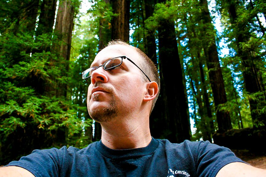 Redwood Hiking Selfie