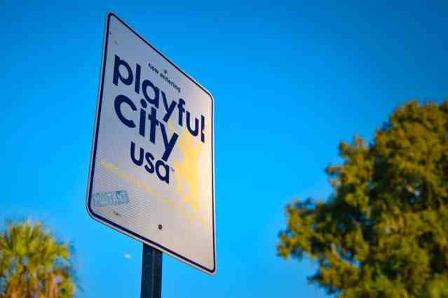 Playful City USA Sign - Edited in Luminar Neptune