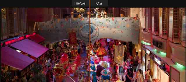 Luminar Neptune Accent AI Before and After
