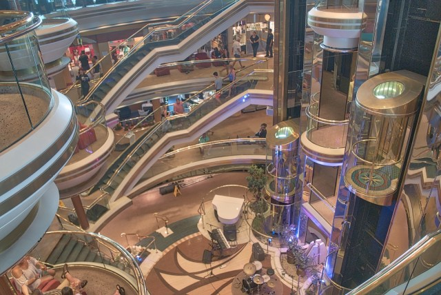 RCI Majesty of the Seas Review - Lobby View Looking Down
