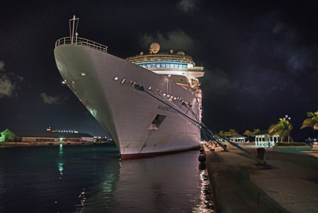 RCI Majesty of the Seas Review - Nassau Port at Night 2
