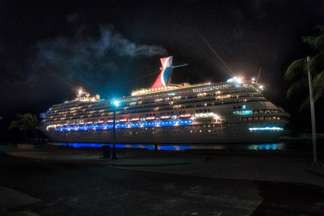 RCI Majesty of the Seas Review - Nassau Port at Night