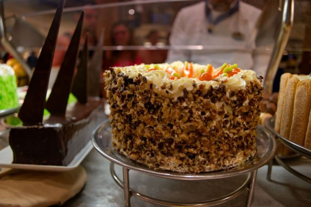 Windjammer Cafe Carrot Cake Dessert - Royal Caribbean Majesty of the Seas