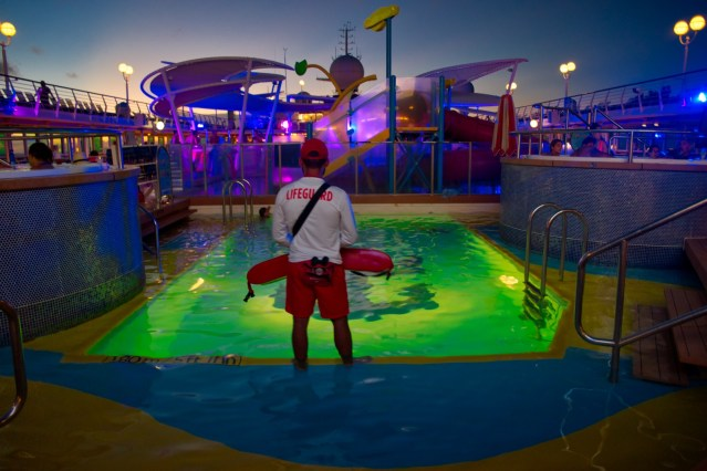 Royal Caribbean Majesty of the Seas - Pool Lifeguard at Night