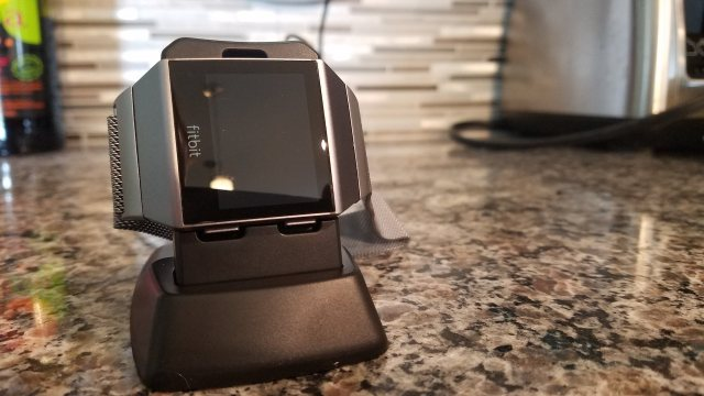 Fitbit Ionic Review - Ionic With Optional Charging Stand