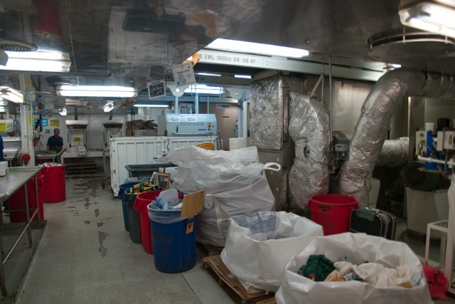 "Behind the Scenes Ship Tour - That's the ""sewer system"" where the poop comes in!"