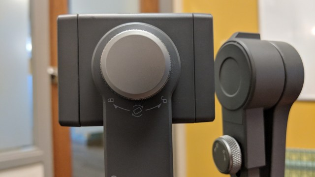 DJI Osmo Mobile 2 phone attachment dial tights and loosens so that the phone can be rotated to portrait
